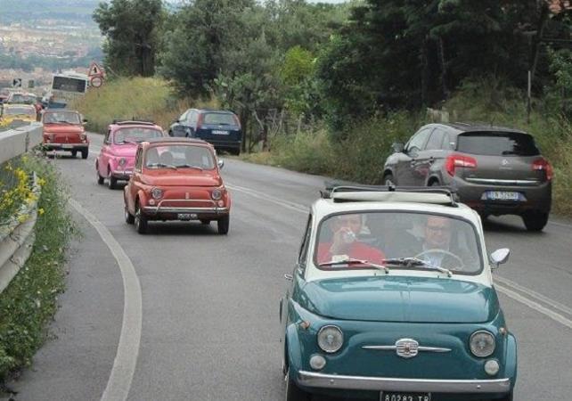 Excursion en Fiat 500 et baignade au lac Bracciano depuis Rome en convoi - Rome -