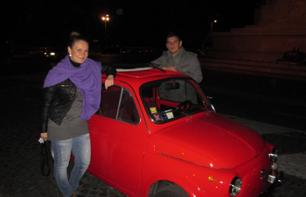 Romantic Night Tour of Rome in a Fiat 500 with Italian Wine Tasting