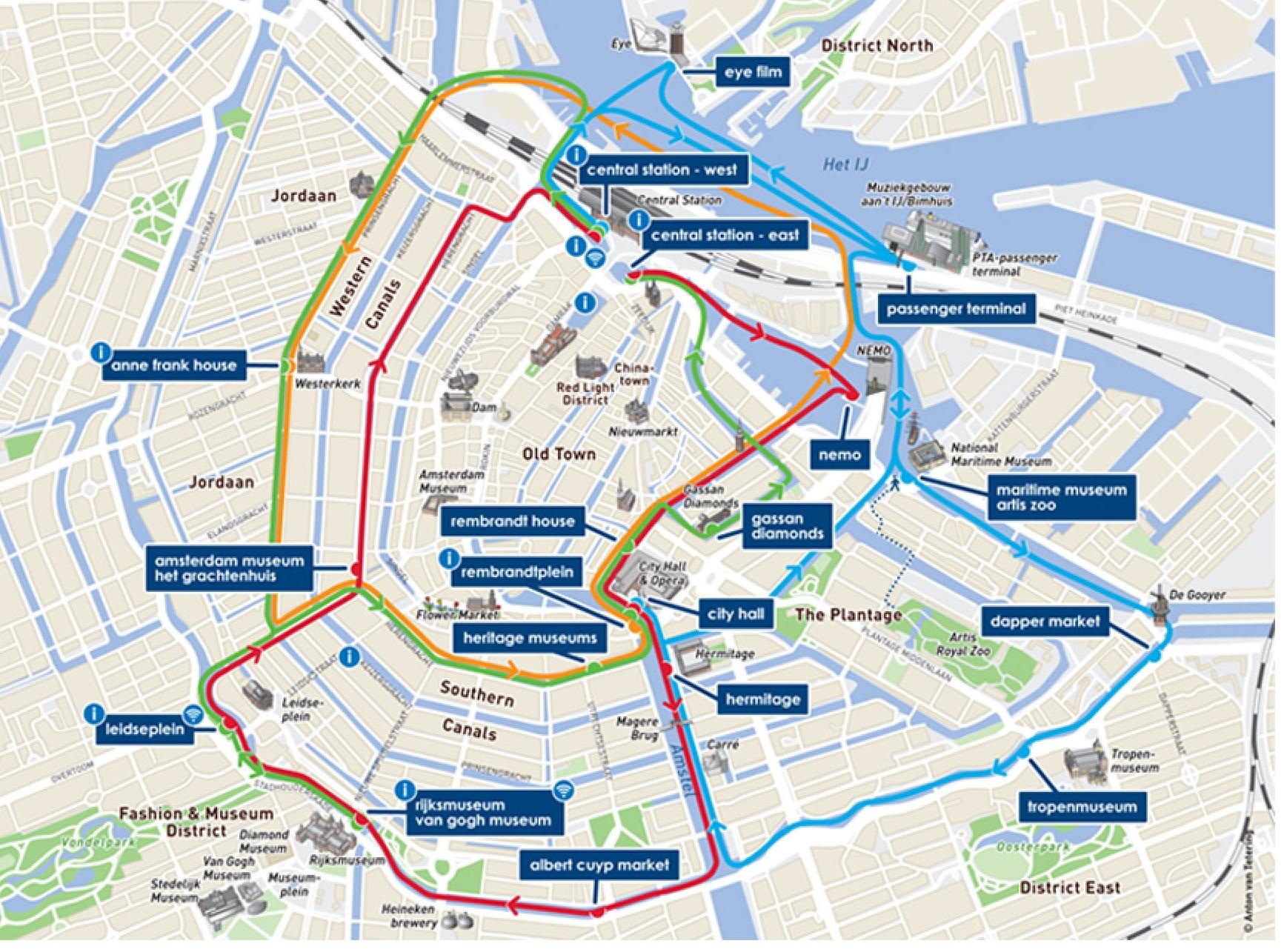 Carte Ville Principales Amsterdam