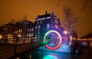 Amsterdam Festival of Lights Seen from the Canals