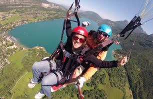 Paragliding in summer