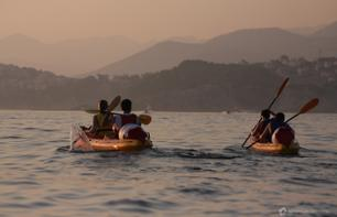 Sunset Kayak Session on the Adriatic Coast of Dubrovnik