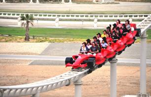 Excursion au parc d'attractions Ferrari World à Abu Dhabi + Transport aller/retour depuis Dubaï