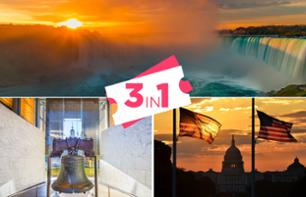 2 excursions (sur 2 jours) au départ de New York: Chutes du Niagara + Washington DC & Philadelphie