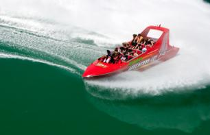 Speedboat tour of the Auckland Harbour