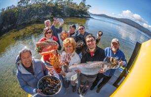 VIP Cruise around Bruny Island: Fishing and tasting of various seafood – Leaving from Hobart