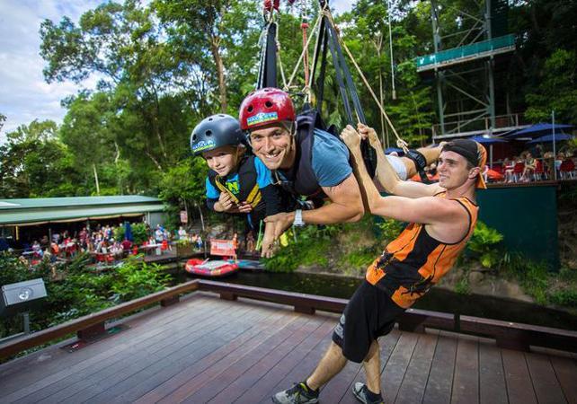 Descente en tyrolienne géante dans la forêt tropicale à Cairns image 4