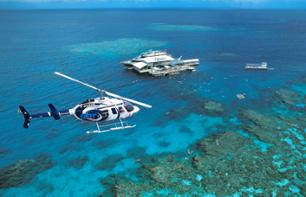 Helicopter Flight over the Rainforest and Great Barrier Reef – Departing from Cairns