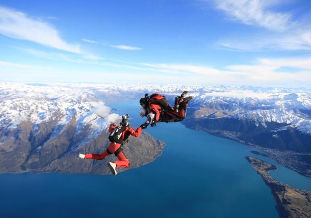saut en parachute queenstown