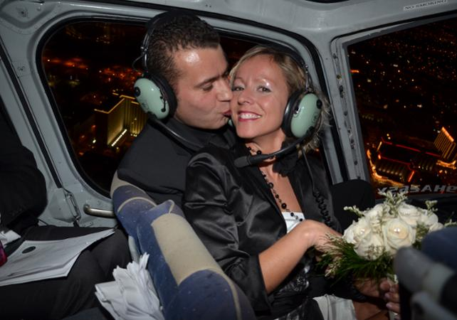 Helicopter Wedding Over Las Vegas