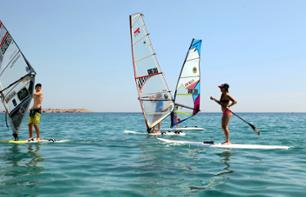 Sailing or Kitesurf or Kayaking Day and trip to Lake Vouliagmeni - leaving from your hotel