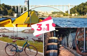 Combo Tour: Bike Rental, Cruise on the Douro and Wine Tasting – Porto