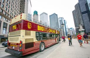 Hop-On Hop-Off Bus Tour Chicago – 1,or 2-day pass