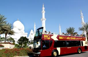 Abu Dhabi Panorama Tour - Hop-on-Hop-off im Open-Top Bus - Pass für 1, 2 oder 5 Tage