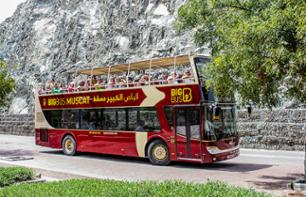Sightseeing Tour of Muscat – Hop-on/Hop-off Open-top Bus Tour – 1 or 2-Day Pass