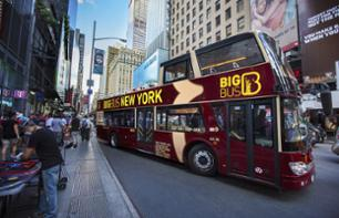 Tour de New York en bus à arrêts multiples – Pass 1 ou 2 jours Uptown & Downtown Manhattan
