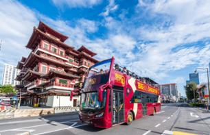 Panoramic bus tour around Singapour - Hop-On-Hop-Off - 1 or 2 day pass