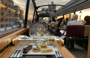 Dinner aboard the top-deck of a bus: Bustronome - London