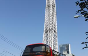 Double-Decker Hop-On Hop-Off Bus Tour of Tokyo – 24-hour pass