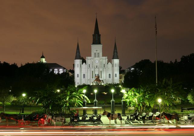 Visite nocturne de la Nouvelle-Orléans en Segway – le Quartier Français illuminé - La Nouvelle-Orléans -