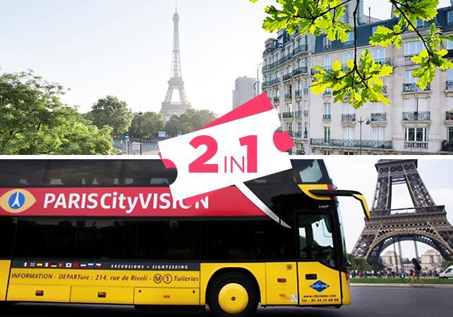 ,Torre Eiffel,Tour por París,En autobús