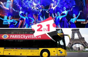 2-in-1 Offer: Evening Bus Tour of Paris & Lido Cabaret Show