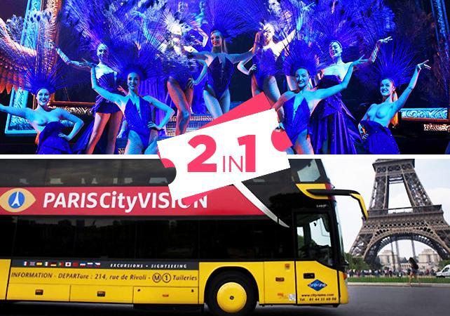 Offre 2 en 1 : Tour de bus en soirée & Spectacle Lido - Paris -
