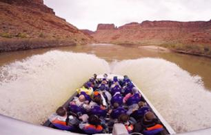 Tour en speed boat sur le fleuve Colorado - 1h - Moab