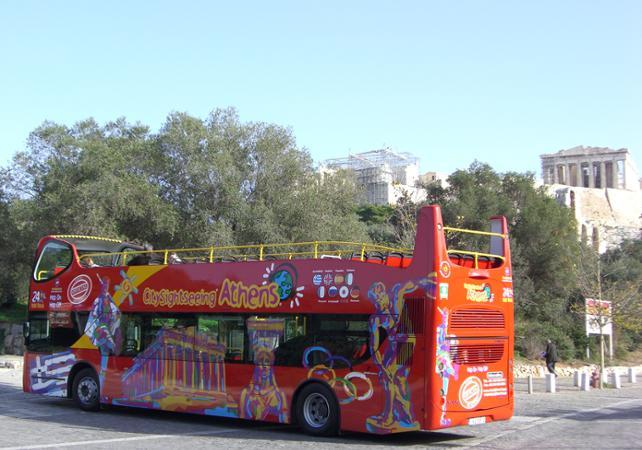 Visite d'Athènes en bus à arrêts multiples – Pass bus 24h illimité - Athènes -