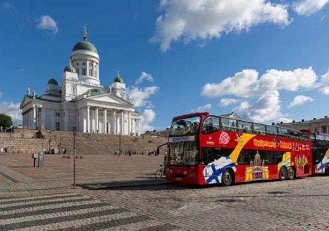 Tours en bus : Tour en bus à arrêts multiples d'Helsinki - Pass 24h illimité