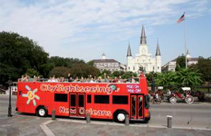 Hop-on Hop-off Bus Tour of New Orleans – 50 monuments & attractions