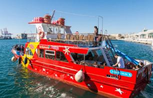 Malaga 24-hour Discovery Pass: Hop-on hop-off bus, boat and walking tour