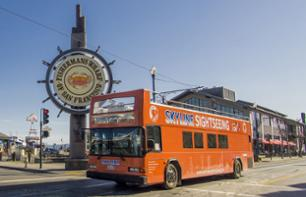All of San Francisco by hop-on hop-off bus - 1 or 2 day pass with options for Sausalito, a night tour and Madame Tussauds