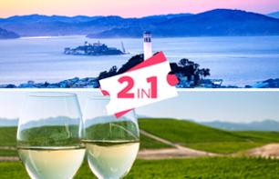 Billet Alcatraz + Excursion à Sonoma Valley avec dégustation de vin - San Francisco