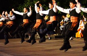 Traditional Greek Dance Show at the Dora Stratou Theater