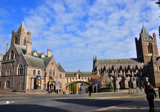 Pass transfert aéroport en navette + tour guidé en bus à arrêts multiples - Dublin -