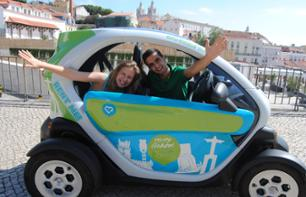 Tour of Old Lisbon in Electric Car with GPS