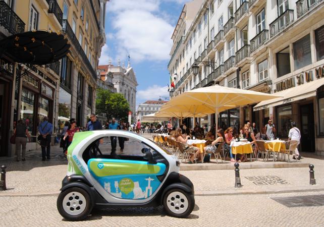 Visite de Lisbonne et du quartier Baixa en voiture électrique - Lisbonne -