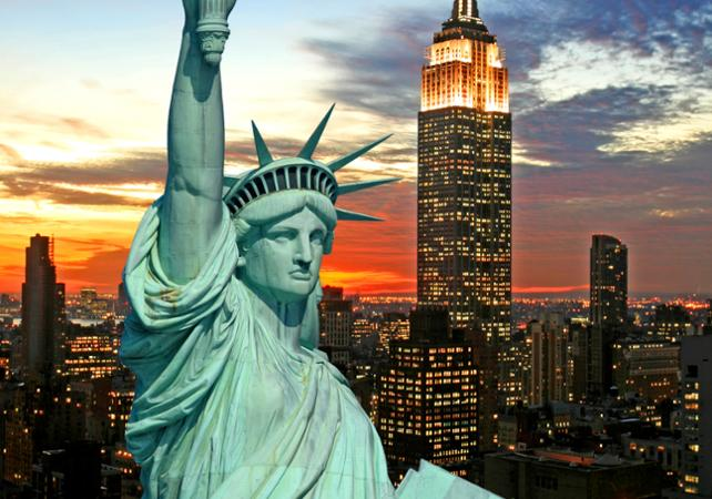 Ver la ciudad,City tours,Visitas en barco o acuáticas,Cruises, sailing & water tours,Empire State,Empire State,Estatua de la Libertad y crucero a Ellis Island,Statue of Liberty and Ellis Island Cruises,Con visita al Empire State