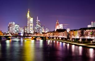 Romantic Frankfurt Evening: Guided Tour in a Luxury Car & Candlelit Dinner in the Rhine Valley – Hotel pick-up/drop-off