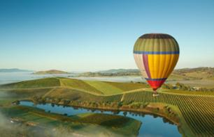 Hot-Air Balloon Ride over Yarra Valley at Sunrise