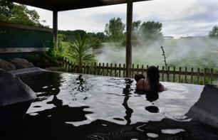 Relax at the Polynesian Spa and excursion to Waitomo & Rotorua