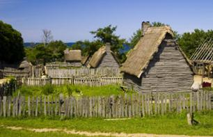 Historic trip to Plimoth Plantation, a reconstructed pilgrim village, and tour of the Mayflower II