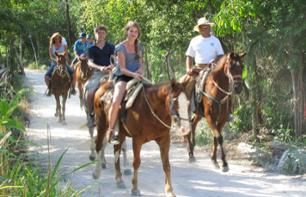 Balade à cheval dans la jungle - Au départ de Cancun / Playa del Carmen