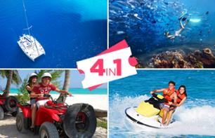 Cancun Ultimate Adventure : Quad, Jet-ski, Catamarano e immersione - con partenza da Cancun / Playa del Carmen