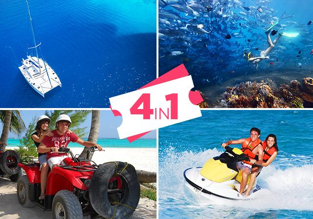 Photo Ultimate Adventure : Quad, Jet-ski, Catamaran et Plongée avec tuba au départ de Cancun / Playa del Carmen