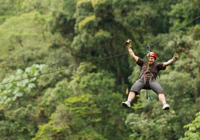 Descentes en tyroliennes dans la forêt tropicale - Avec transport depuis San José - San José (Costa Rica) -