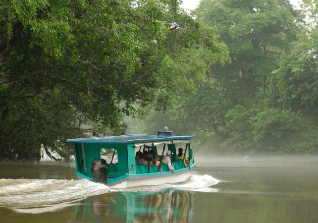 Aventure dans la forêt tropicale : croisière sur le fleuve Sarapiqui et parcours accro-branche - San José (Costa Rica) -