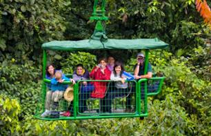 Rainforest Treetop Ride aboard an Aerial Platform – With transport from San José