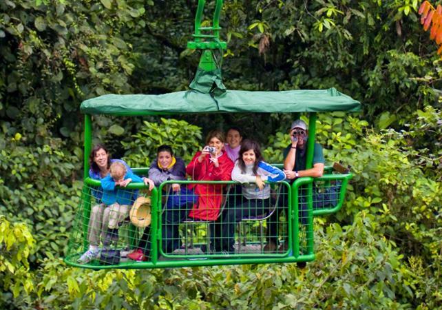 Traversée de la canopée en téléphérique - Avec transport depuis San José - San José (Costa Rica) -
